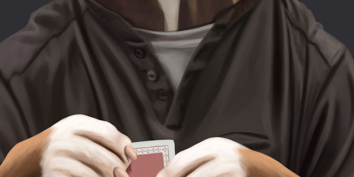A caricature of one of the members of the Eastern Poker Tour website crew. Designed to be used as an avatar on the website, but styled like Dog.