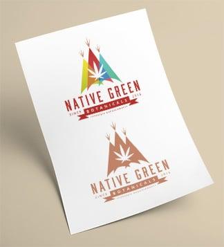Native Green Logo Design