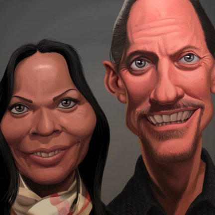 Couple Caricature Portrait