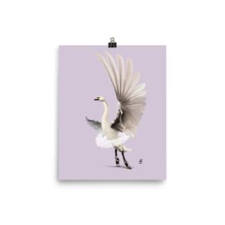 Lake (Colour Animal Illustration) Art Print Poster