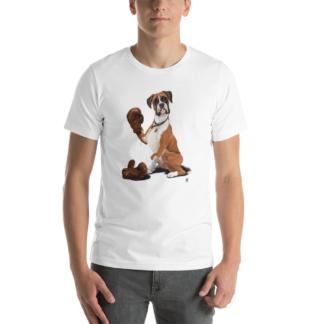 The Boxer (Animal Illustration) Short-Sleeve Unisex T-Shirt