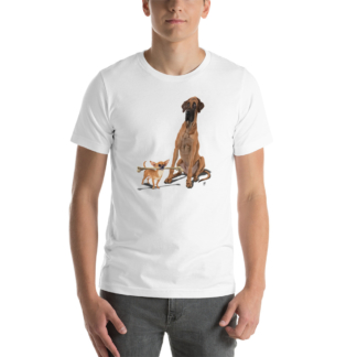 The Long and the Short and the Tall (Animal Illustration) Short-Sleeve Unisex T-Shirt