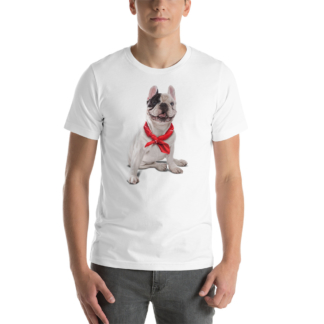 Frenchie (Animal Illustration) Short-Sleeve Unisex T-Shirt
