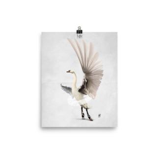 Lake (Animal Illustration) Art Print Poster