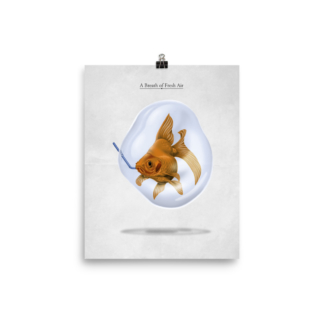 A Breath of Fresh Air (Animal Illustration) Art Print Poster