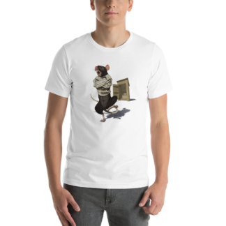 Shithouse (Animal Illustration) Short-Sleeve Unisex T-Shirt
