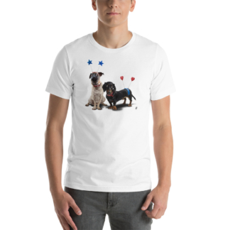 What's the Deely? (Animal Illustration) Short-Sleeve Unisex T-Shirt