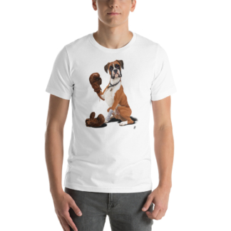 The Boxer (Animal Illustration) Short-Sleeve Unisex T-Shirt