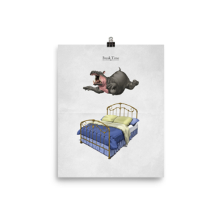 Break Time (Animal Illustration) Art Print Poster