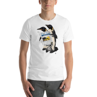 Read All Over (Animal Illustration) Short-Sleeve Unisex T-Shirt