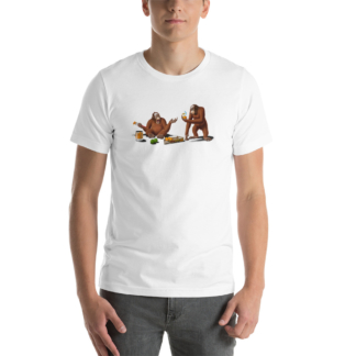 Orange Man (Animal Illustration) Short-Sleeve Unisex T-Shirt