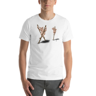 Stick in the Mud (Animal Illustration) Short-Sleeve Unisex T-Shirt