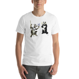 Donkey Xote and Sancho Panda (Animal Illustration) Short-Sleeve Unisex T-Shirt