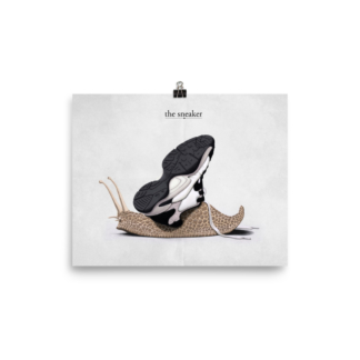 The Sneaker (Animal Illustration) Art Print Poster