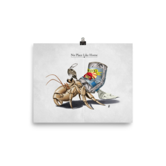 No Place Like Home (Animal Illustration) Art Print Poster