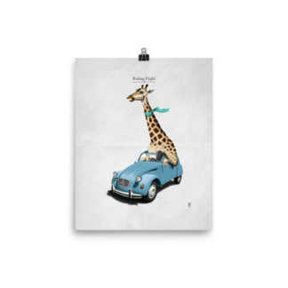 Riding High (Animal Illustration) Art Print Poster