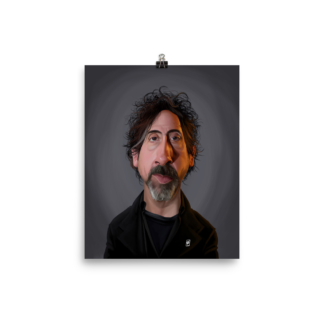 Tim Burton (Celebrity Sunday) Art Print Poster