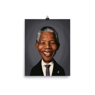 Nelson Mandela (Celebrity Sunday) Art Print Poster