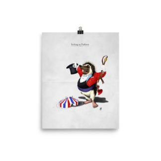 Itching to Perform (Animal Illustration) Art Print Poster