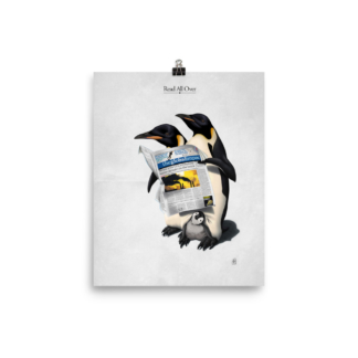 Read All Over (Animal Illustration) Art Print Poster