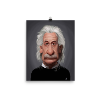 Albert Einstein (Celebrity Sunday) Art Print Poster