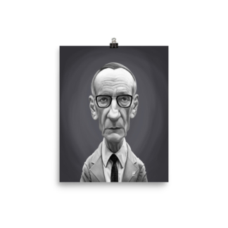 William Burroughs (Celebrity Sunday) Art Print Poster