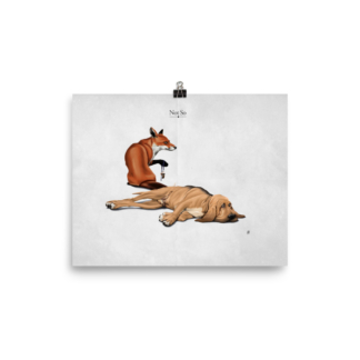 Not So (Animal Illustration) Art Print Poster