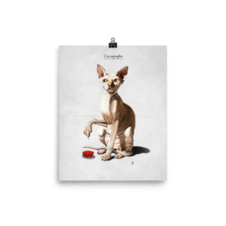Cat-astrophe (Animal Illustration) Art Print Poster