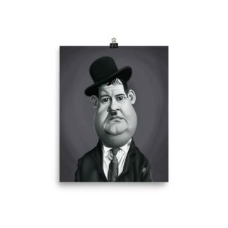 Oliver Hardy (Celebrity Sunday) Art Print Poster