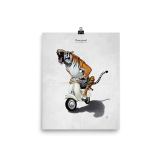 Rooooaaar! (Animal Illustration) Art Print Poster