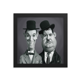 Laurel and Hardy (Celebrity Sunday) Art Print Poster