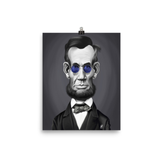Abraham Lincoln (Steampunk) Art Print Poster