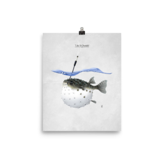 Take It Outside! (Animal Illustration) Art Print Poster