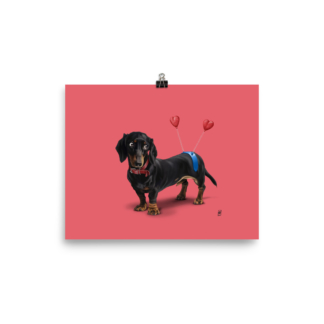 Butt (Animal Illustration) Art Print Poster