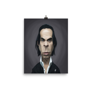Nick Cave (Celebrity Sunday) Art Print Poster