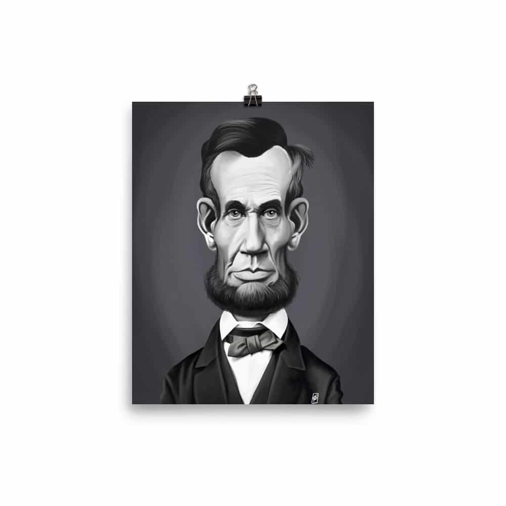 image regarding Printable Pictures of Abraham Lincoln referred to as Abraham Lincoln (Movie star Sunday) Artwork Print Poster