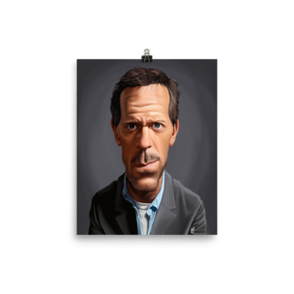 Hugh Laurie (Celebrity Sunday) Art Print Poster
