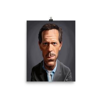 Hugh Laurie (Celebrity Sunday) Art Print Poster