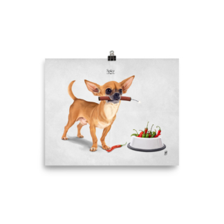 Spicy (Animal Illustration) Art Print Poster