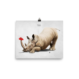 Horny (Animal Illustration) Art Print Poster