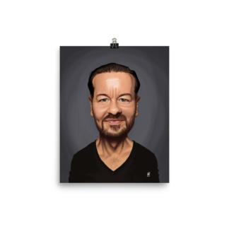 Ricky Gervais (Celebrity Sunday) Art Print Poster