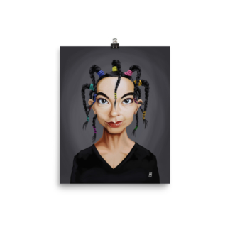 Björk (Celebrity Sunday) Art Print Poster
