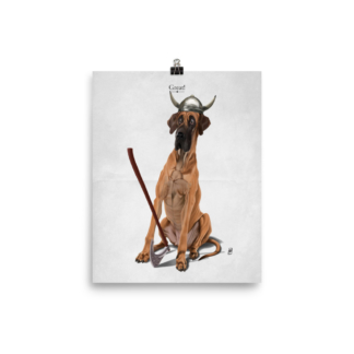 Great! (Animal Illustration) Art Print Poster