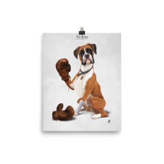 The Boxer (Animal Illustration) Art Print Poster