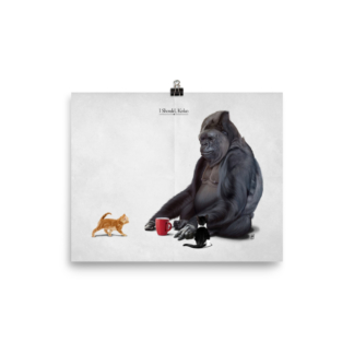 I Should, Koko (Animal Illustration) Art Print Poster
