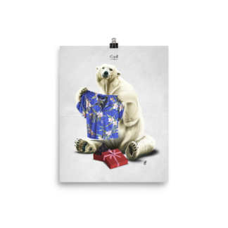 Cool!  (Animal Illustration) Art Print Poster