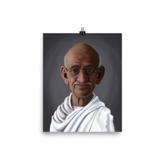 Mahatma Gandhi (Celebrity Sunday) Art Print Poster