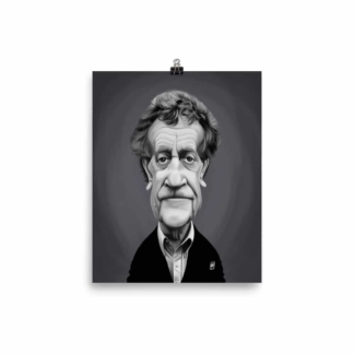 Kurt Vonnegut (Celebrity Sunday) Art Print Poster