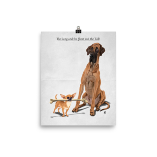 The Long and the Short and the Tall (Animal Illustration) Art Print Poster