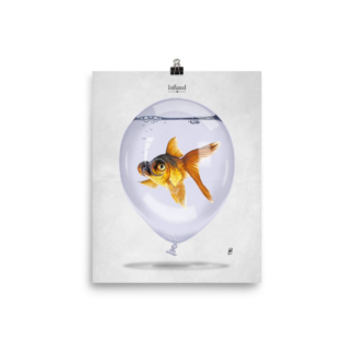Inflated (Animal Illustration) Art Print Poster